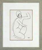 "Picture "" Nude Female I."" in a frame"
