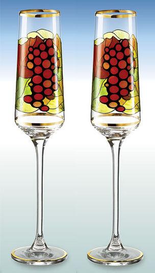 "2 Champagnerkelche ""Riesling"" im Set - nach Louis C. Tiffany"