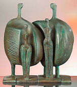 "Group of sculptures ""La Familia (The Family)"", art bronze"