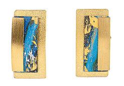 Stud earrings 'Magic Blue'
