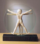 Sculpture 'Schema delle Proporzioni', version in artificial marble