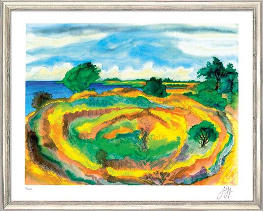 """Günter Grass: Bild """"An der Küste"""" (2006), gerahmt"""