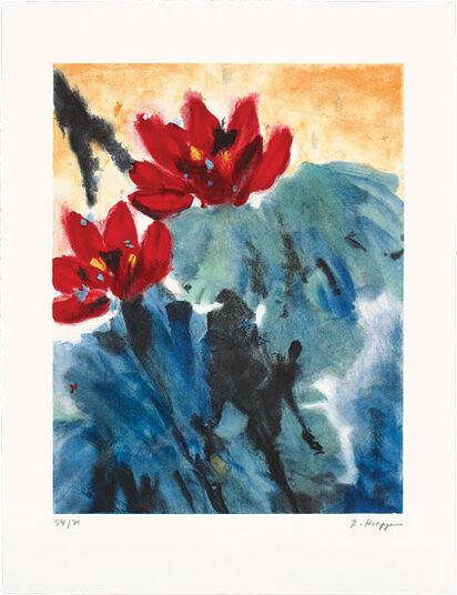 "Brigitte Hoeppe: Bild ""Roter Lotus II"" (1999)"