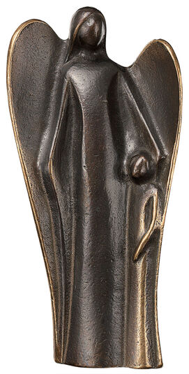 Kerstin Stark: Sculpture 'Guardian Angel with Child', bronze