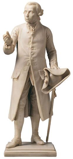 "Christian Daniel Rauch: Sculpture ""Immanuel Kant"" artificial marble edition"