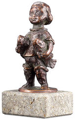 """Sternzeichen-Skulptur """"Fische"""" (20.2.-20.3.), Metallguss"""