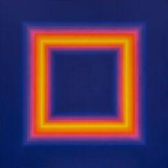 """Bild """"Quadrat Gelb in Flandernblau"""" (2016) (Unikat)"""
