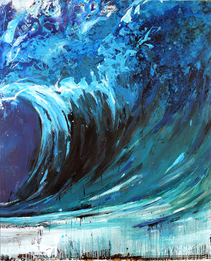 "Ralf Koenemann: Bild ""Blue Swell 2"" (2015) (Unikat)"