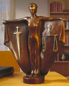 "Sculpture ""Justitia"", bronze"