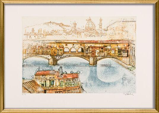 """Simon Dittrich: Bild """"Ponte Vecchio"""" (1996), gerahmt"""