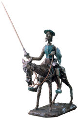 "Sculpture ""Don Quixote, the Knight of the Sorrowful Countenance"", Bronze"
