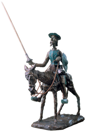 "RobiN: Sculpture ""Don Quixote, the Knight of the Sorrowful Countenance"", Bronze"