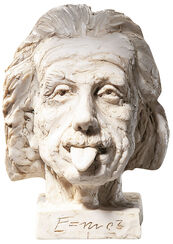 """Einstein-head"" (small),art casting"