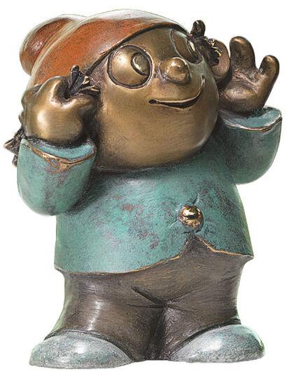 "Wolf Gerlach: Sculpture ""Mainzel Man Berti"", Version in Bronze"