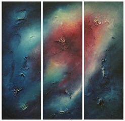 """Triptychon """"Nordlicht"""" (2001) (Original / Unikat), ungerahmt"""
