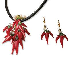 "Jewellery Set ""Pepperoni"""