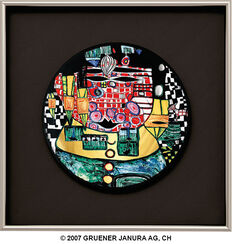 "(928B) Wall Plate ""The Antipodes"", Framed"