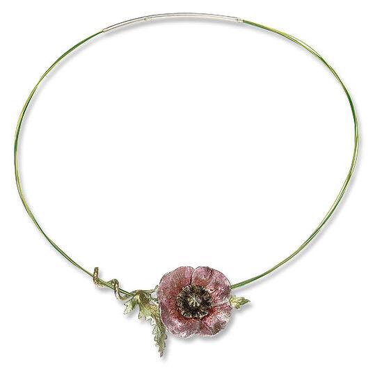 "Kerstin Stark: Necklace ""Poppy flower """