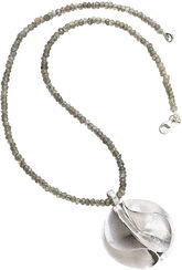 """Necklace """"silver flower"""""""