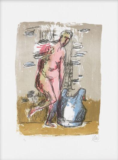 "Markus Lüpertz: Bild ""Frau mit Panier"" (2014)"