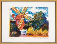 "Bild ""Rote Mühle"" (2008), gerahmt"