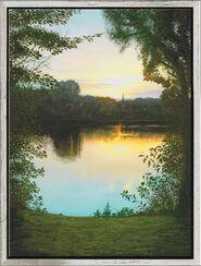 """Bild """"Abend am Lago Laprello"""", gerahmt"""