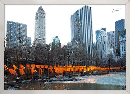 """Christo und Jeanne-Claude: Bild """"The Gates Foto 50"""", gerahmt"""