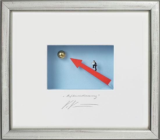 "3D-Painting ""Optimistic Mood"", framed"