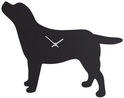 """Wand- / Tieruhr """"Wagging Tail"""" - Labrador mit wedelndem Schwanz"""