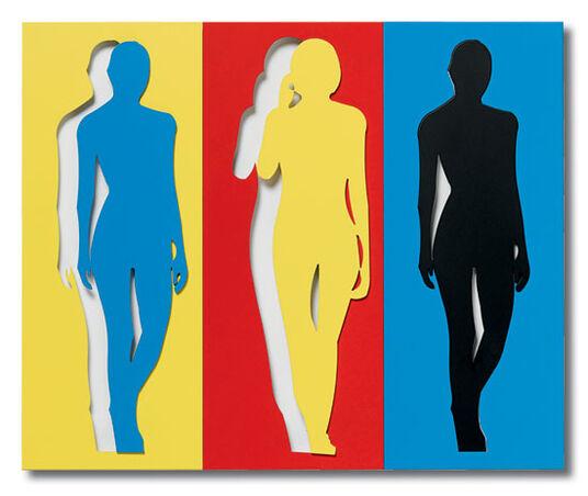 """Werner Berges: Wandrelief """"Jede Menge Leute V"""" (2009)"""
