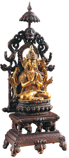 Bodhisattva on a Lotus Throne