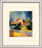 """Bild """"Das helle Haus"""" (1914), gerahmt"""