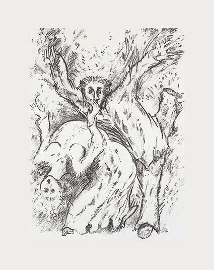 """Günter Grass: Bild """"In Ekstase"""" (2002) , ungerahmt"""