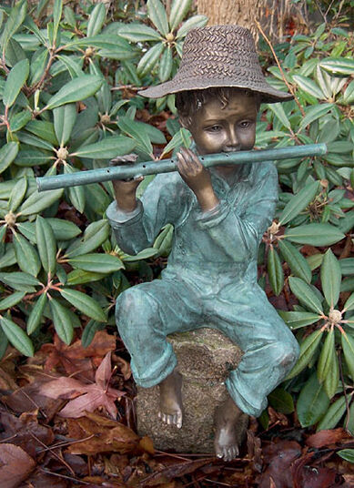 "Water spout ""Flute Player"", bronze"