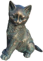 """Gartenskulptur """"Junges Kätzchen"""", Bronze"""