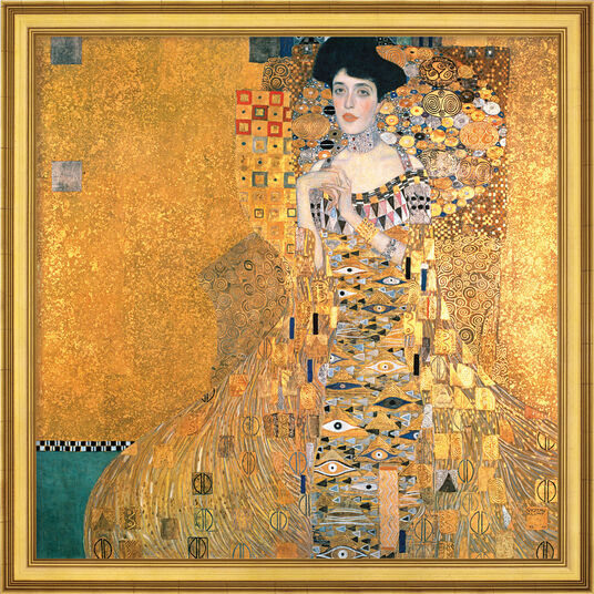 """Gustav Klimt: Bild """"Adele Bloch-Bauer I"""" (1907), gerahmt"""