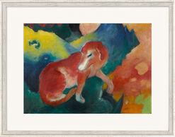 """Bild """"Der rote Hund"""" (1911), gerahmt"""