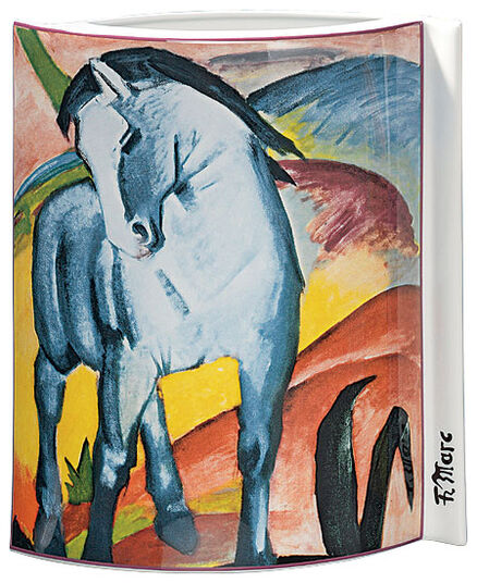 franz marc porzellanvase blaues pferd 1911 ars mundi. Black Bedroom Furniture Sets. Home Design Ideas
