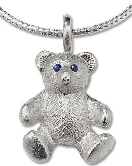 "Christiane Wendt: teddy-necklace ""My Best Friend"", 925 Sterling silver"