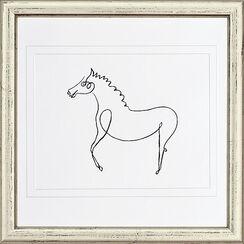 """Bild """"Das Pferd"""", gerahmt"""