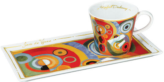 """Robert Delaunay: Porcelain cup """"Zest for life"""", with gold decoration"""