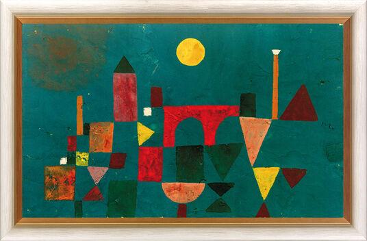 "Paul Klee: Bild ""Rote Brücke"" (1928), gerahmt"