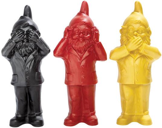 """Ottmar Hörl: 3 Skulpturen """"Geheimnisträger - Nichts sehen, nichts hören und nichts sagen"""" im Set"""
