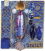 Brooch 'Tribute to Emily' - after Gustav Klimt