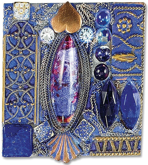Petra Waszak: Brooch 'Tribute to Emily' - after Gustav Klimt