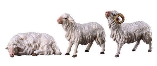 Nativity figurines 'Three Sheep', hand-painted