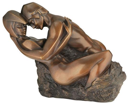 """Jürgen Götze: Skulptur """"Hingabe"""", Version in Bronze"""