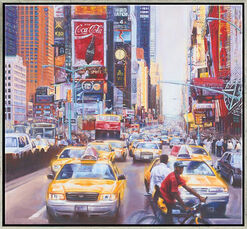 "Bild ""Times Square North"", gerahmt"