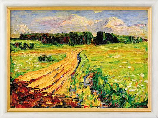"""Wassily Kandinsky: Bild """"München - Planegg I"""" (1901), gerahmt"""