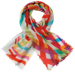 "Shawl ""Happy Stripes"""